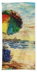 Umbrella Sunrise Beach Towel
