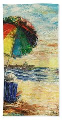Umbrella Sunrise Beach Towel