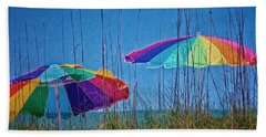 Umbrellas On Sanibel Island Beach Beach Towel