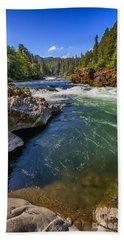 Beach Towel featuring the photograph Umpqua River by David Millenheft