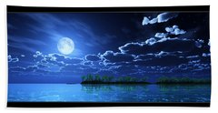 Under A Silvery Moon... Beach Towel by Tim Fillingim