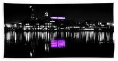 Under Amour At Night - Vibrant Color Splash Beach Towel