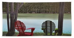 Under Muskoka Trees Beach Towel
