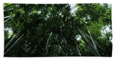 Under The Bamboo Haleakala National Park  Beach Towel by Vivian Christopher