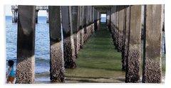 Beach Sheet featuring the photograph Under The Boardwalk by Ed Weidman