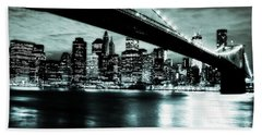 Under The Bridge Beach Towel by Pennie  McCracken