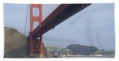 The Golden Gate Bridge San Francisco California Scenic Photography - Ai P. Nilson Beach Sheet