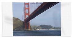 Under The Golden Gate - San Francisco Golden Gate Bridge 2006 - Scenic Photography - Ai P. Nilson Beach Towel