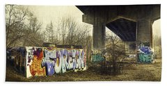 Under The Locust Street Bridge Beach Towel