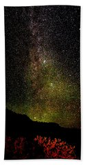 Beach Towel featuring the photograph Under The Milky Way by Greg Norrell