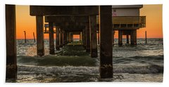 Under The Pier Beach Sheet by Jane Luxton