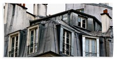 Under The Rooftops Of Paris Beach Towel by Ira Shander