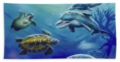 Under Water Antics Beach Towel