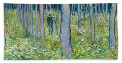 Undergrowth With Two Figures, 1890  Beach Towel