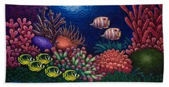 Undersea Creatures Vi Beach Towel