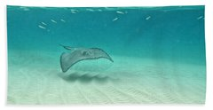 Underwater Flight Beach Towel