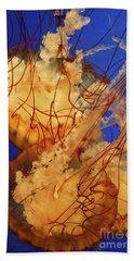 Underwater Friends - Jelly Fish By Diana Sainz Beach Sheet