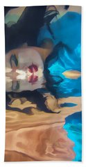 Underwater Geisha Abstract 1 Beach Sheet