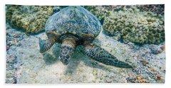 Swimming Turtle Beach Towel