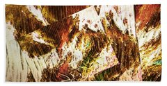 Unfinished Business Abstract Art Beach Towel
