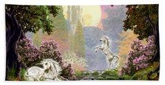 Unicorn New Born Beach Towel by Garry Walton