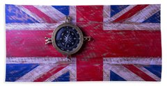 Union Jack And Compass Beach Towel