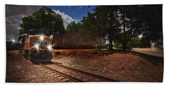 Union Pacific 7917 Train Beach Towel by Linda Unger