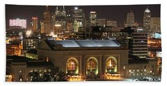Union Station At Night Beach Towel