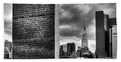 United Nations And Chrysler Building Beach Towel