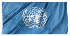 United Nations Beach Sheet by Les Cunliffe