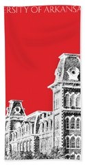 University Of Arkansas - Red Beach Towel