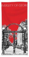 University Of Georgia - Georgia Arch - Red Beach Towel