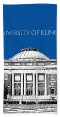 University Of Illinois Foellinger Auditorium - Royal Blue Beach Towel
