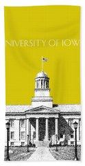 University Of Iowa - Mustard Yellow Beach Towel