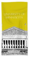 University Of Minnesota 2 - Northrop Auditorium - Mustard Yellow Beach Towel