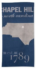 University Of North Carolina Tar Heels Chapel Hill Unc College Town State Map Poster Series No 076 Beach Towel