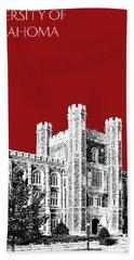 University Of Oklahoma - Dark Red Beach Towel