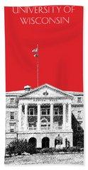 University Of Wisconsin - Red Beach Towel
