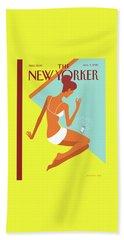 New Yorker August 9th, 2010 Beach Towel by Christoph Niemann
