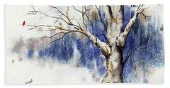Untitled Winter Tree Beach Sheet