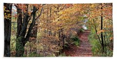 Up The Wooded Lane Beach Towel