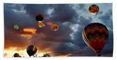 Up Up And Away - Hot Air Balloons Beach Towel