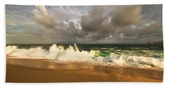Beach Sheet featuring the photograph Upcoming Tropical Storm by Eti Reid