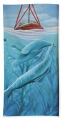 Beach Towel featuring the painting Uphoria by Dianna Lewis