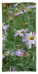 Uplifted Asters Beach Towel
