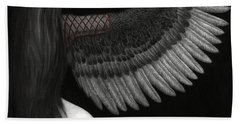 Upon Ashen Wings Beach Towel by Pat Erickson