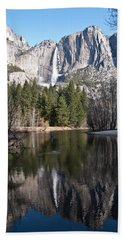 Upper Yosemite Fall Beach Towel