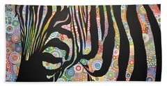 Beach Sheet featuring the painting Urban Jungle by Amy Giacomelli