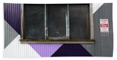 Urban Window- Photography Beach Towel by Linda Woods
