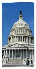 Us Capitol Building Beach Towel